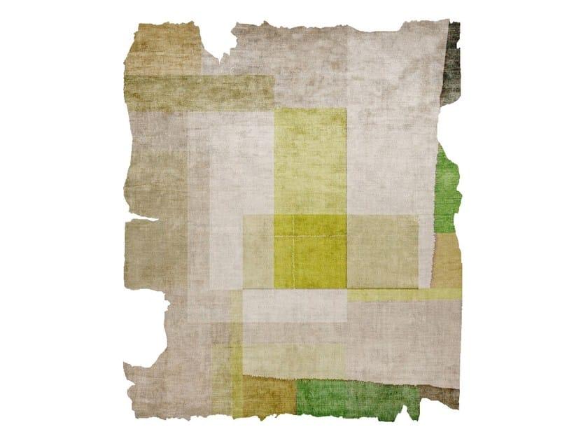 Handmade silk rug P121 PROTOTYPE KIWANUKA GARDEN CUT by HENZEL STUDIO