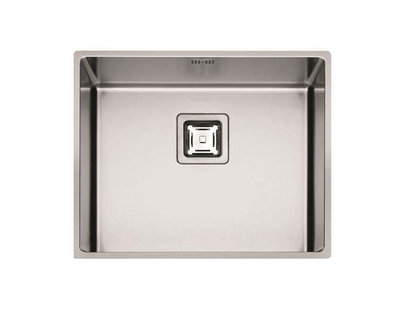 Single stainless steel sink P1B 5343 Q U | Sink by Fulgor Milano