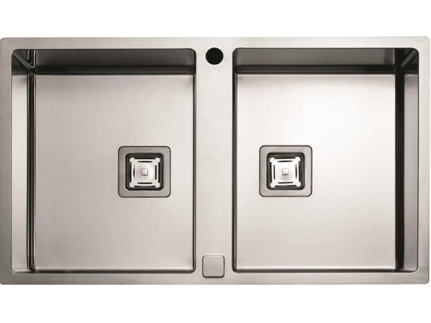 2 bowl stainless steel sink P2B 8651 QA F-SF | Sink by Fulgor Milano