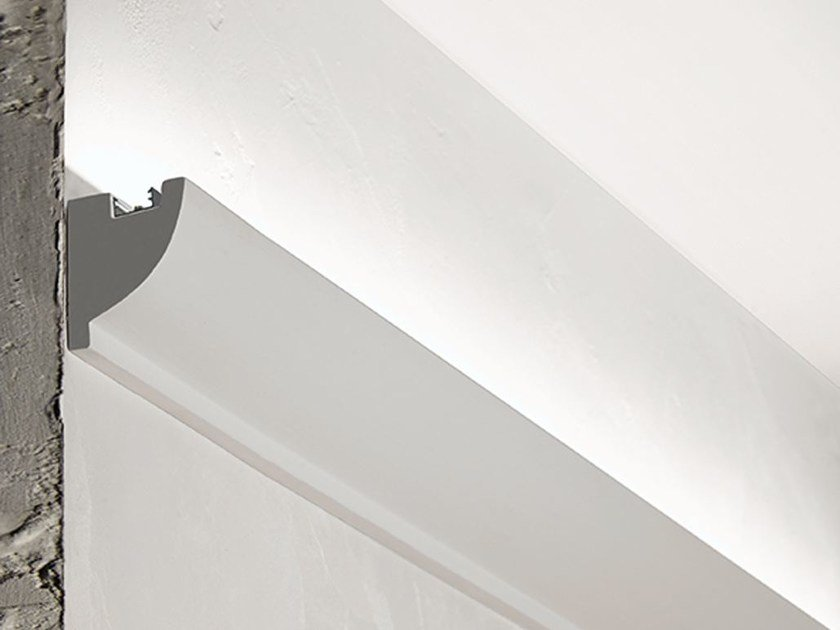 Wall-mounted gypsum Linear lighting profile P4 by NOBILE ITALIA