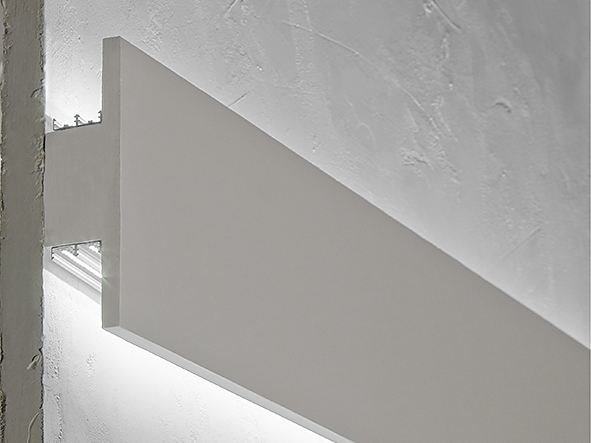 Wall-mounted gypsum Linear lighting profile P5 by NOBILE ITALIA