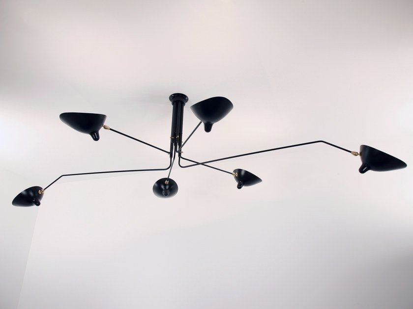 Adjustable metal ceiling lamp P6B | Ceiling lamp by Serge Mouille