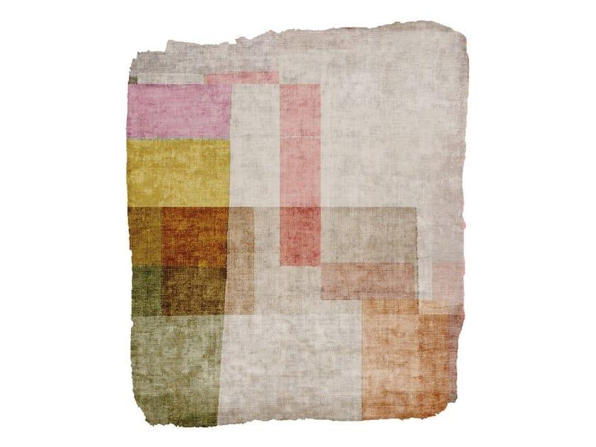 Handmade silk rug P90 COMPLICATED NAYER DUB RAW ICE CUT by HENZEL STUDIO