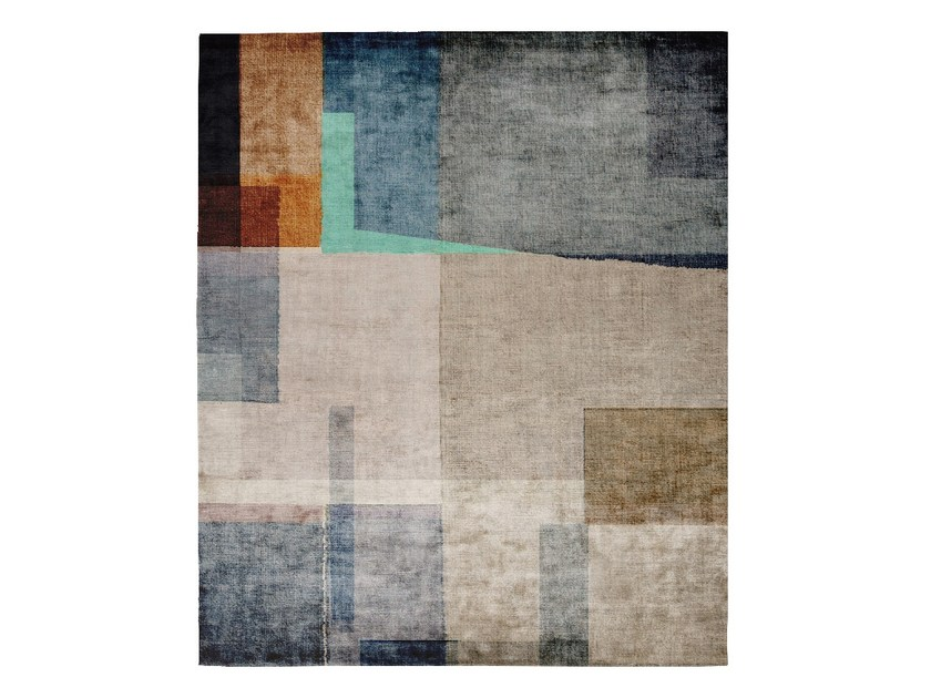 Handmade rectangular silk rug P91 DAYDREAMING DA LATA by HENZEL STUDIO