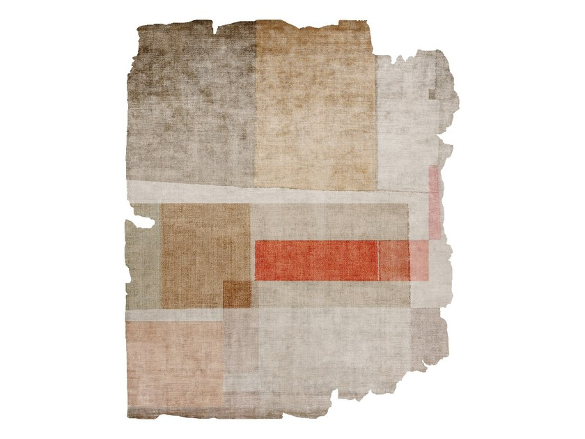 Handmade silk rug P94 LOVE SUBLIME (KAFELE EDIT) CUT by HENZEL STUDIO