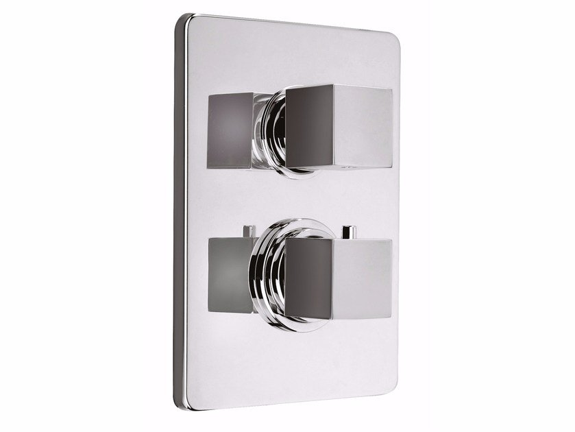 2 hole thermostatic shower mixer with plate PABLOLUX - F8212-PB by Rubinetteria Giulini