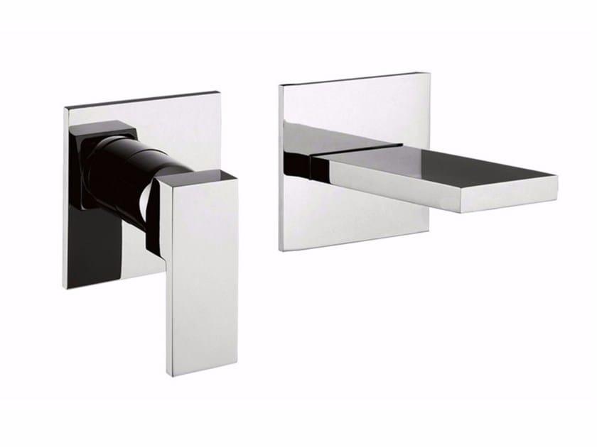 2 hole wall-mounted single handle washbasin mixer PABLOLUX - F9820-B2 by Rubinetteria Giulini