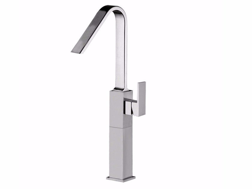 Countertop single handle 1 hole washbasin mixer PABLOLUX - F9828AP by Rubinetteria Giulini
