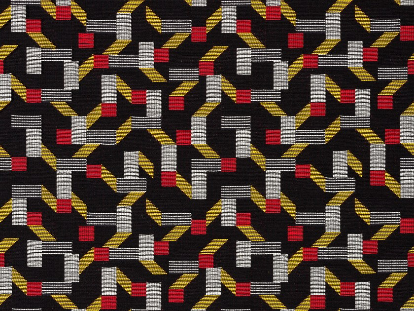 Cotton upholstery fabric with graphic pattern PACHISI by Dedar