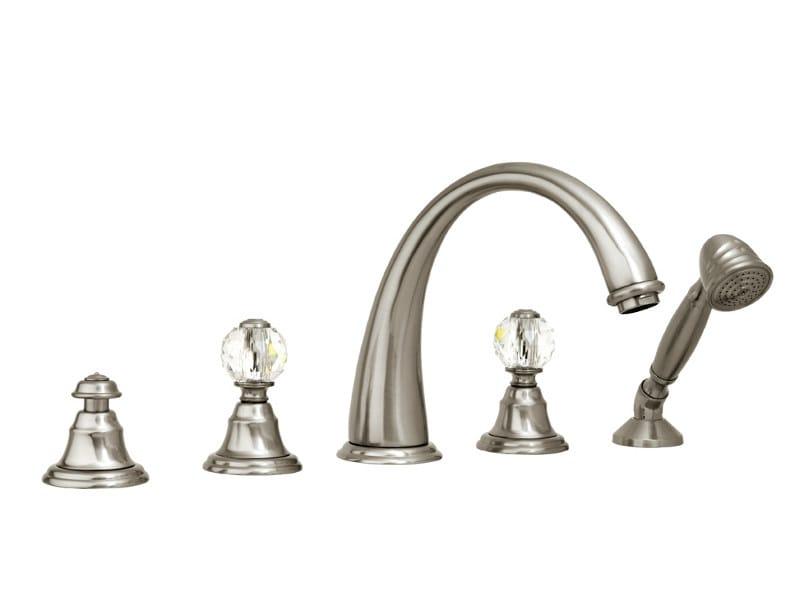 5 hole bathtub set with Swarovski® crystals PACIFICA | Bathtub set with Swarovski® crystals by Bronces Mestre