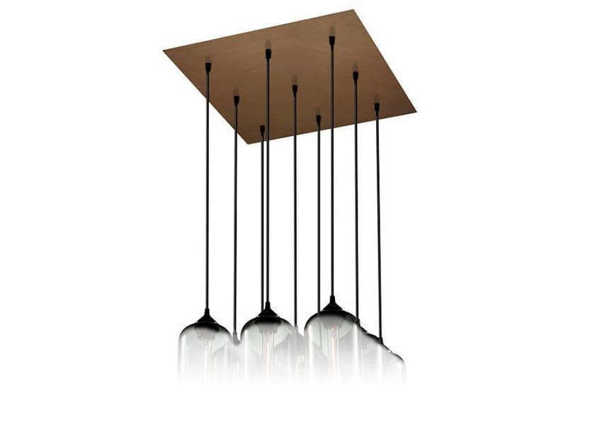 Direct light handmade blown glass pendant lamp PACK 9 by Niche Modern