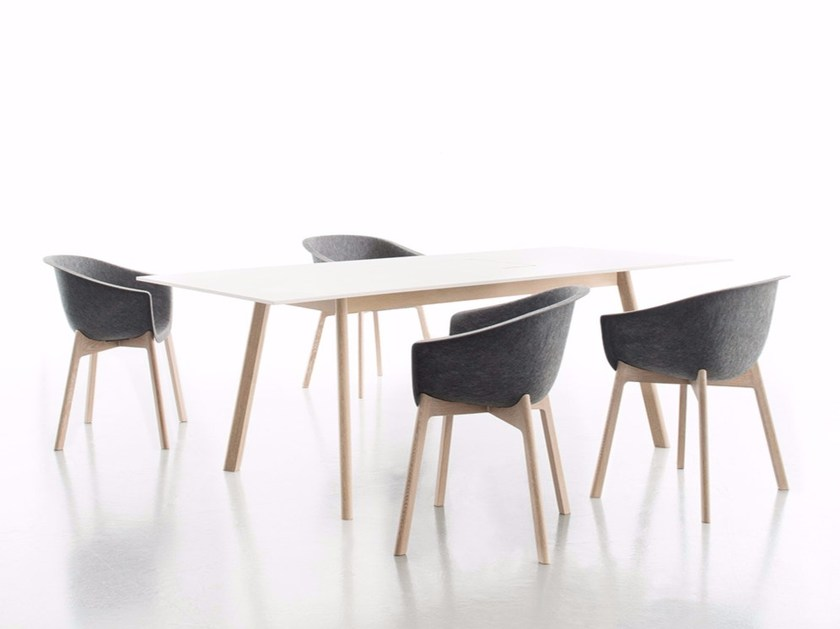 Rectangular laminate dining table PAD TABLE by conmoto