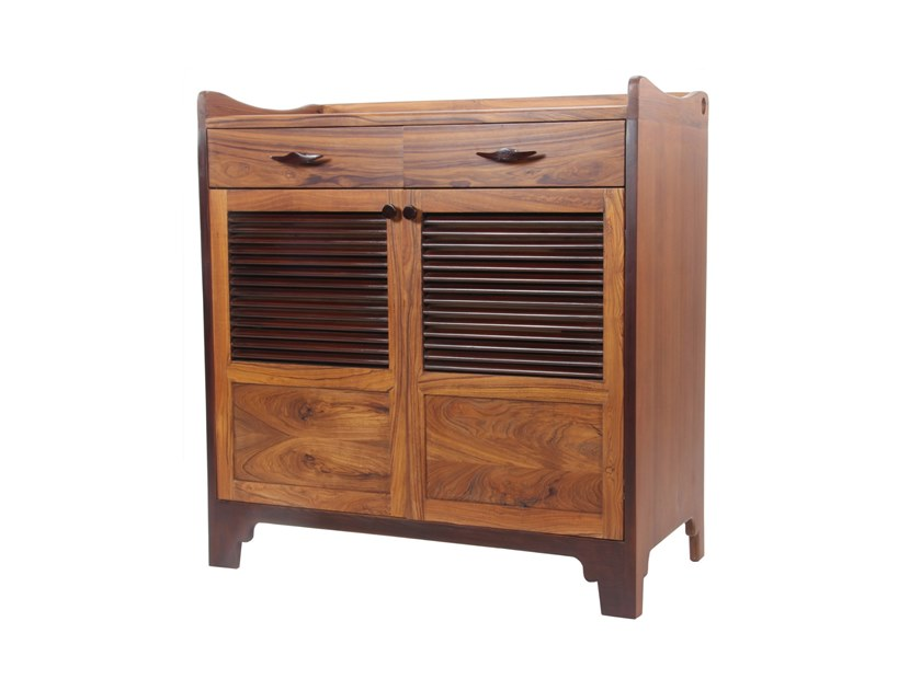 Solid wood shoe cabinet PADAPA by ALANKARAM