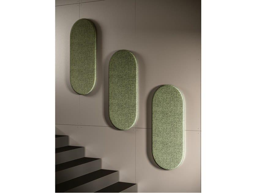 Pannello acustico a parete in fibra di poliestere PADDLE by Ronda Design