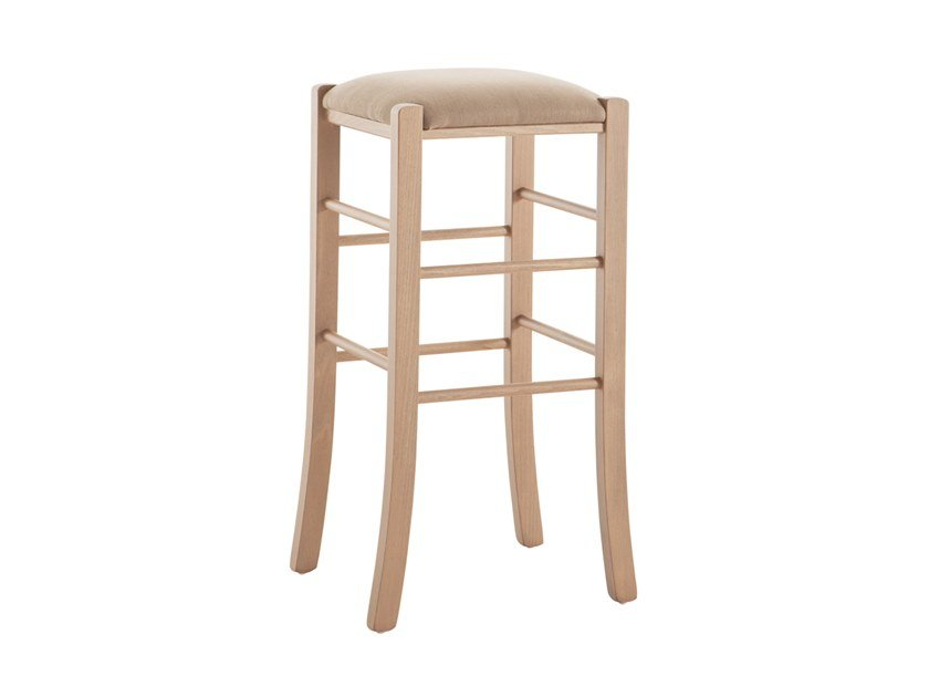 High beech stool PAESANA 485X.i1 by Palma