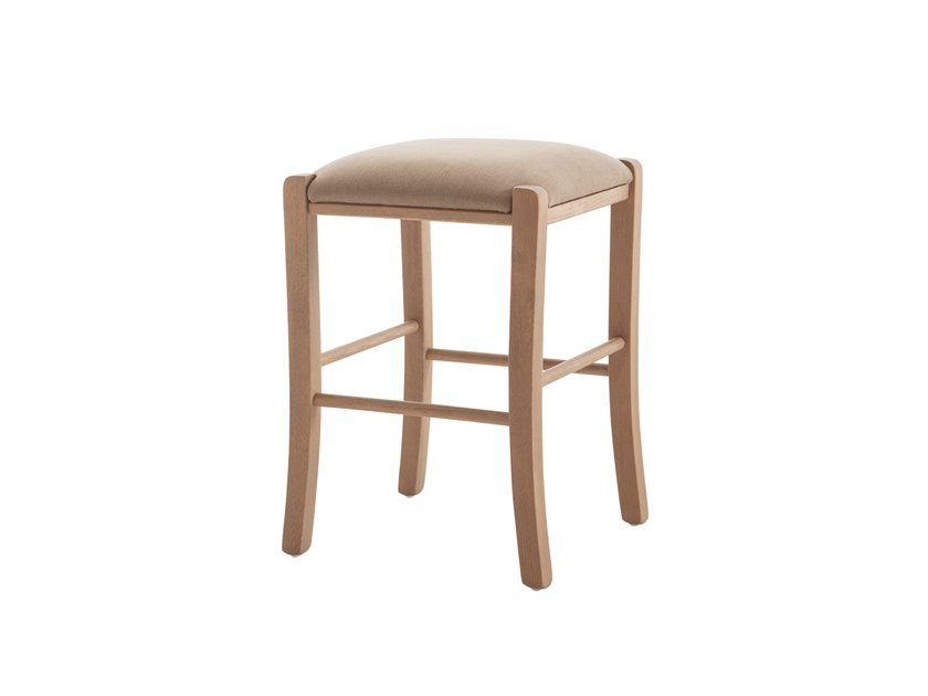 Low beech stool PAESANA 485Z.i1 by Palma