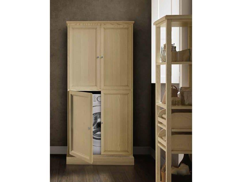 Floorstanding wooden bathroom cabinet with doors PAESTUM 55 by Cerasa