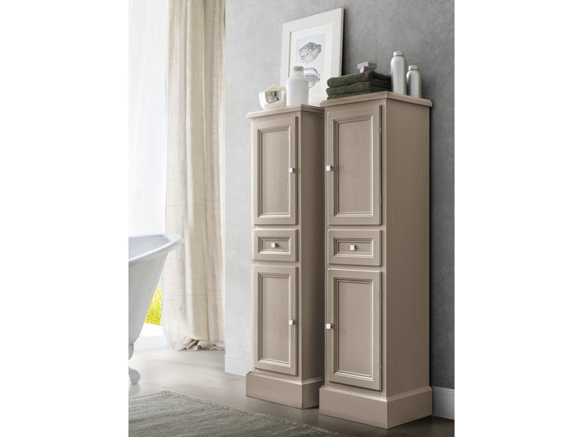 Tall Bathroom Cabinet With Doors Paestum 69 Paestum Collection By Cerasa