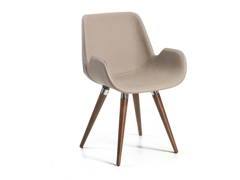 Upholstered chair with armrests PAGNANO by Trevisan Asolo