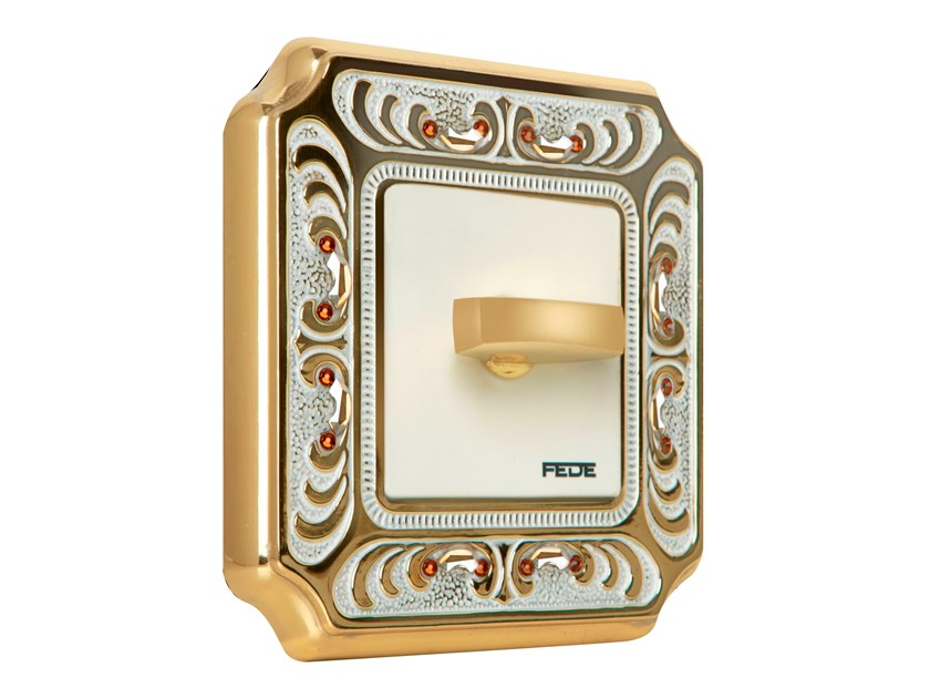 Brass wiring accessories PALACE SIENA by FEDE