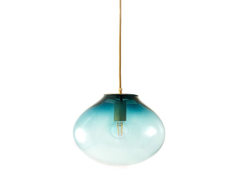 Direct light handmade blown glass pendant lamp PALASI | Pendant lamp by ELOA