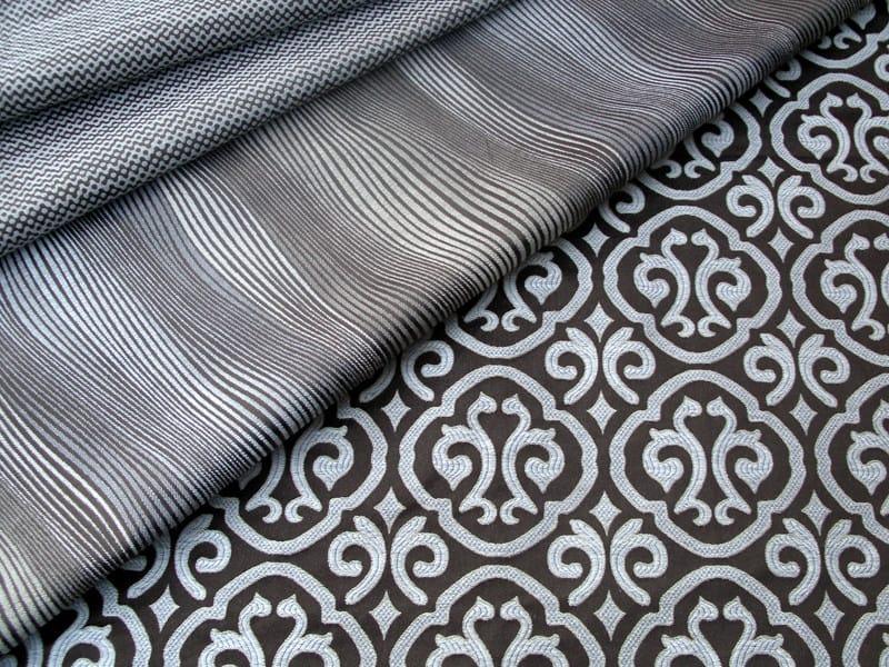 Fire retardant jacquard fabric with graphic pattern PALAZZO BROCCATO by l'Opificio