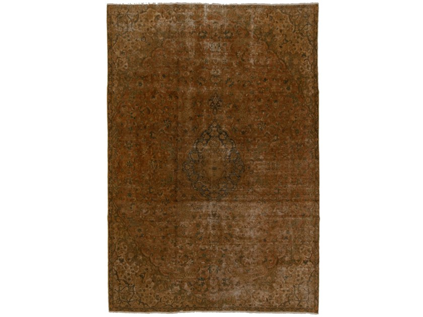 Contemporary style patterned rectangular wool rug PALAZZO PREMIUM VINTAGE | Handmade rug by EBRU