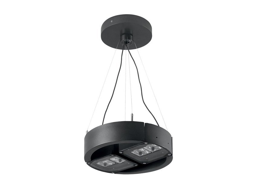 LED adjustable aluminium pendant lamp Palladiano 1.1 by L&L Luce&Light