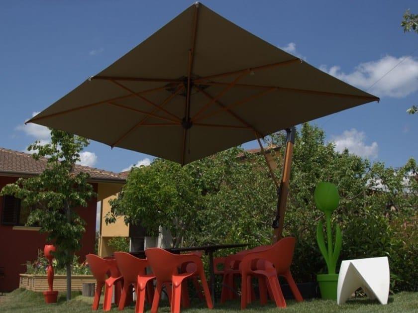 Rectangular offset Garden umbrella PALLADIO BRACCIO | Rectangular Garden umbrella by Scolaro Parasol