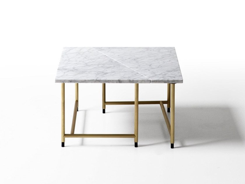 Square marble coffee table PALLADIO | Square coffee table by Porro