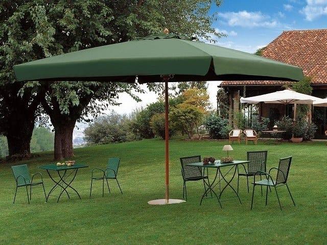 Rectangular iroko Garden umbrella PALLADIO STANDARD | Rectangular Garden umbrella by Scolaro Parasol