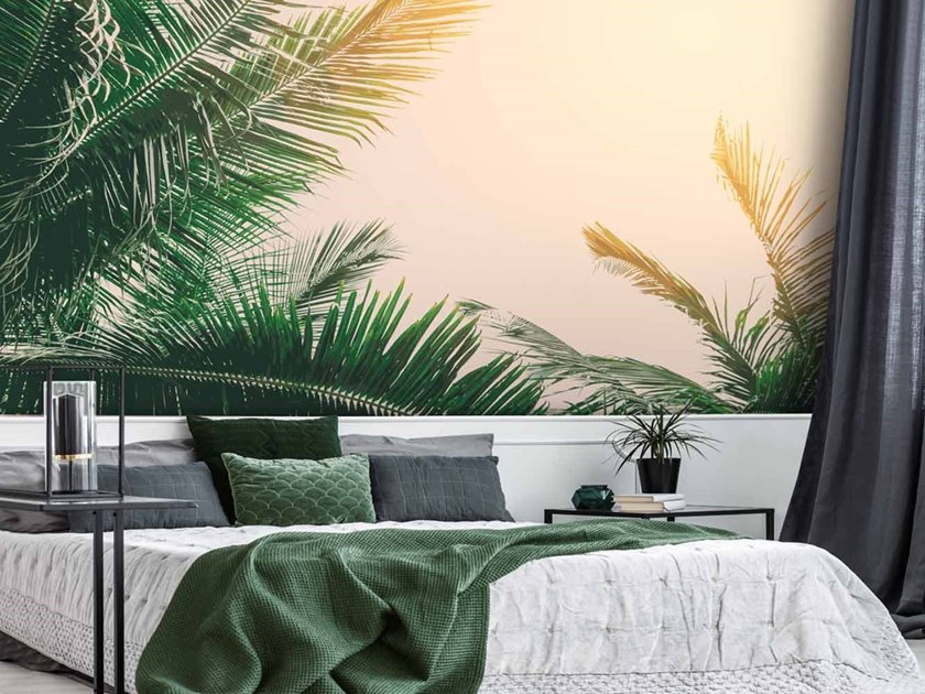 Digital printing Tropical wallpaper PALM SOLIS by LGD01