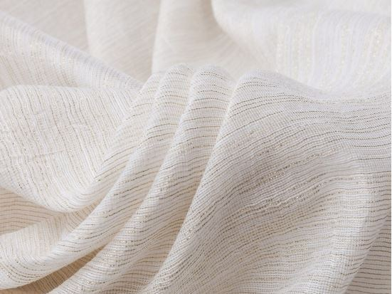 Solid-color fabric for curtains PALMA LUREX by Equipo DRT