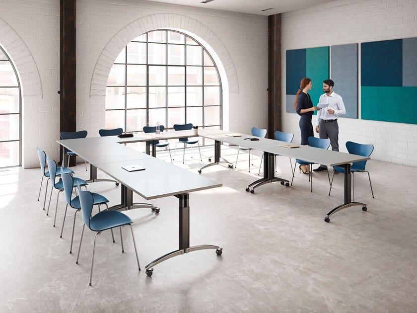 Tavolo da riunione pieghevole con ruote PALMEGA | Tavolo da riunione ...