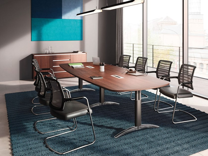 Modular meeting table PALMEGA   Meeting table by PALMBERG