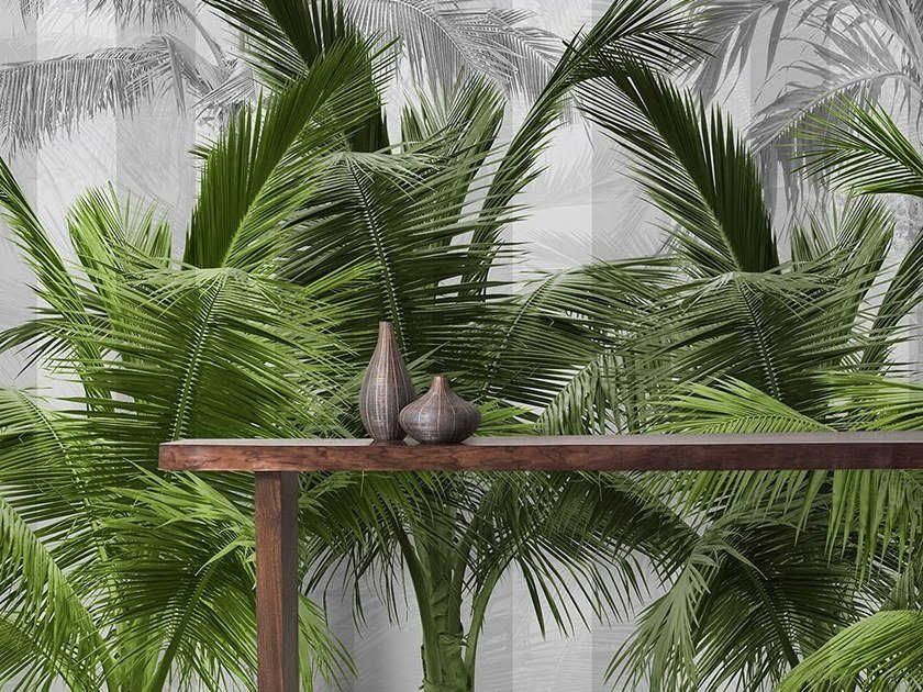 Tropical wallpaper, PVC free, eco, washable PALMS SPRING by Wallpepper
