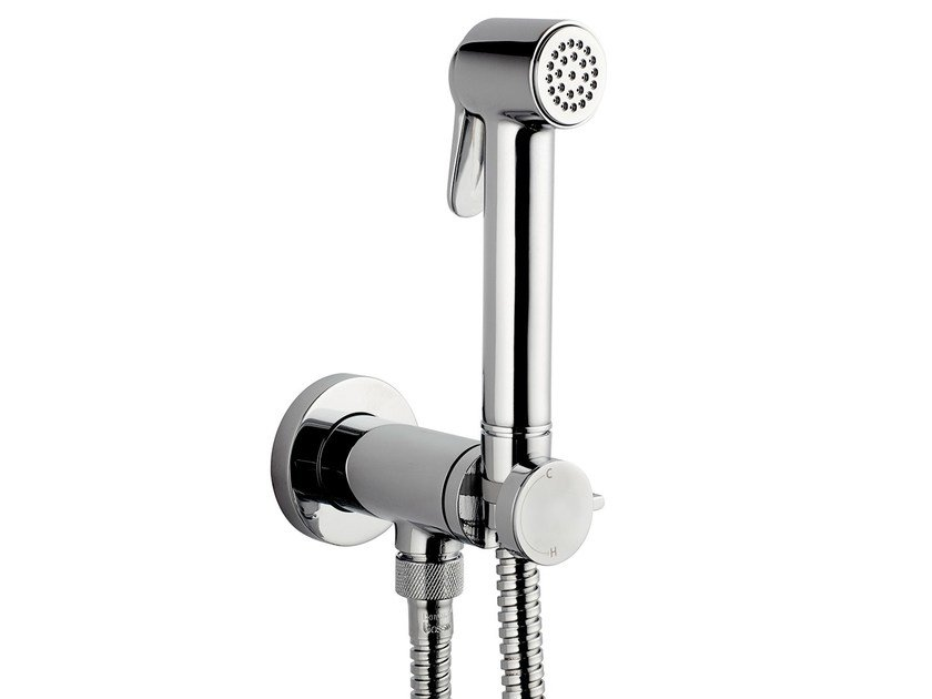 Contemporary style 1-spray handshower Paloma Brass Mixer Set by Bossini