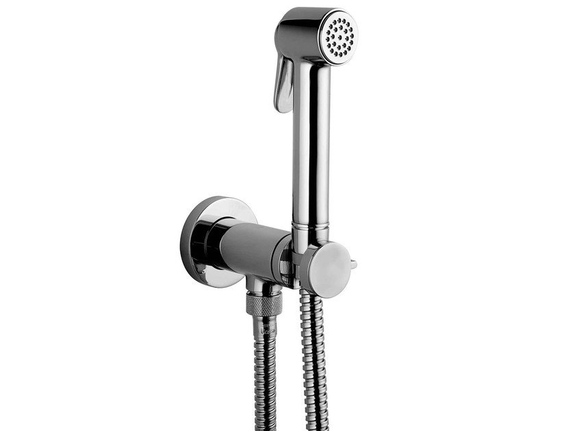 Contemporary style handshower with bracket Paloma Brass Stop Valve Set by Bossini