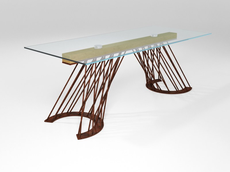 Tavolo rettangolare in cristallo PAMPLONA | Tavolo in cristallo by Barel
