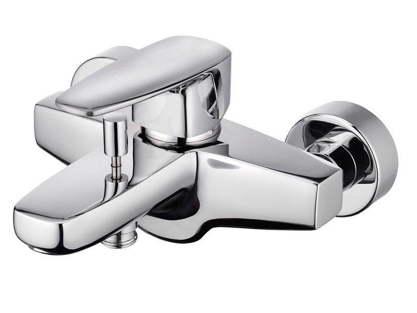 Wall-mounted bathtub mixer with diverter PAN II | Bathtub mixer by JUSTIME