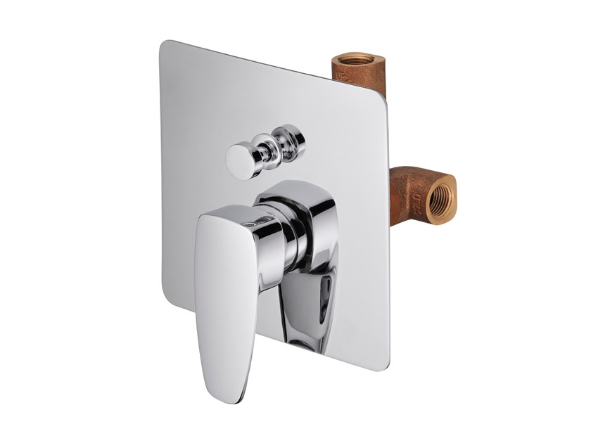 Recessed shower mixer with diverter PAN II   Shower mixer with diverter by JUSTIME