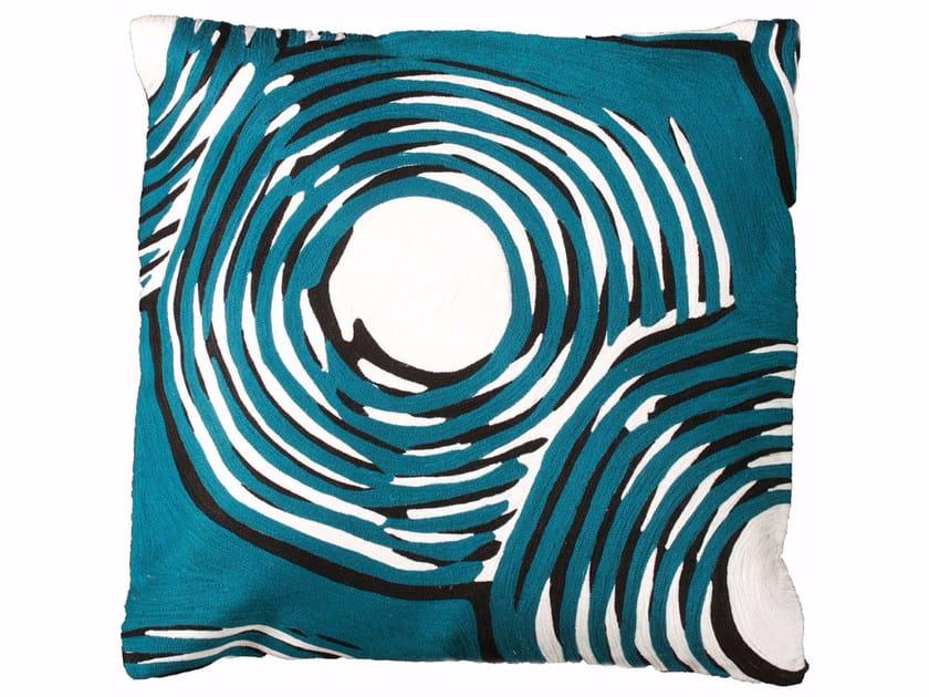 Motif square wool cushion PAN by Toulemonde Bochart