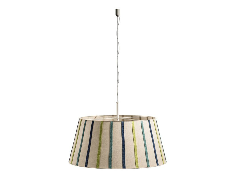 Direct light fabric pendant lamp PANAREA | Pendant lamp by Caroti