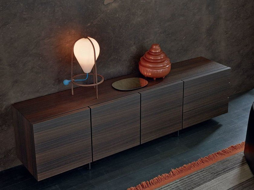 Wood veneer sideboard with doors PANDORA | Sideboard by poliform & Wood veneer sideboard with doors PANDORA | Sideboard Pandora ...