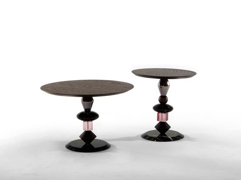 Round wooden coffee table PANDORA by Tonin Casa