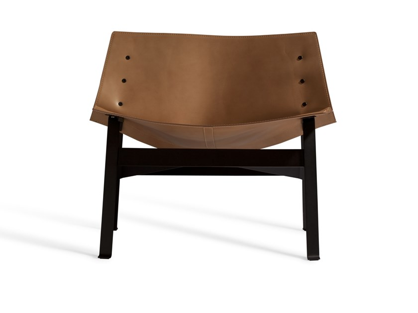 Leather easy chair PANEL 517C by Capdell
