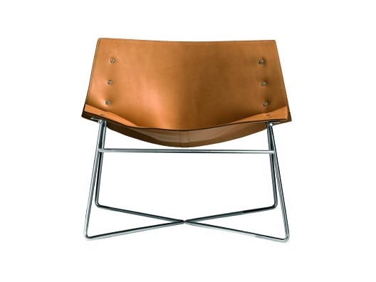 Leather easy chair PANEL 518C by Capdell