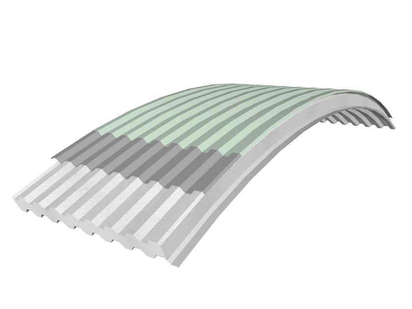 Insulated metal panel for roof PANEL C-GG TPO by iCurvi di Medacciai