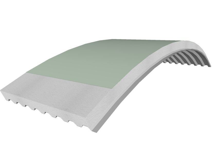 Insulated metal panel for roof PANEL C-GTPO by iCurvi di Medacciai