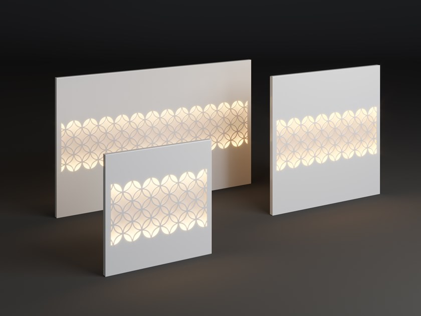LED metal wall lamp PANEL CIRO STRIP by Laubo